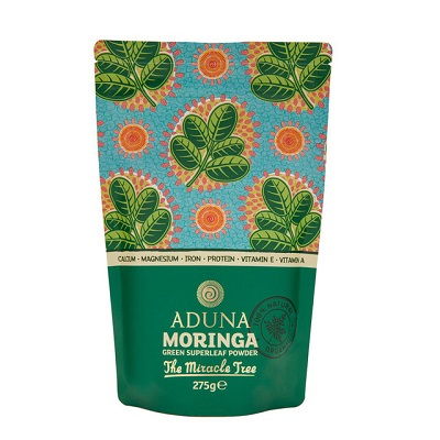 【英國ADUNA阿杜納】有機辣木樹葉粉 MORINGA Green Superleaf Powder 275g