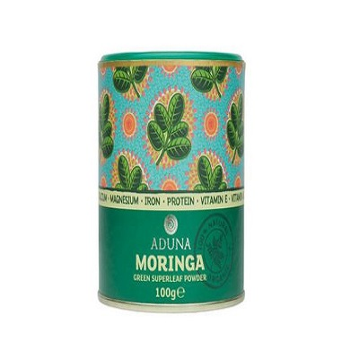 【英國ADUNA阿杜納】有機辣木樹葉粉 MORINGA Green Superleaf Powder 100g