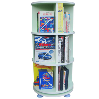 【75折優惠】第一博士360度旋轉書櫃(蘋果綠)