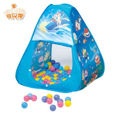 寶貝樂 三角帳篷折疊遊戲球屋送200球【CBH-01】(BTCBH01)