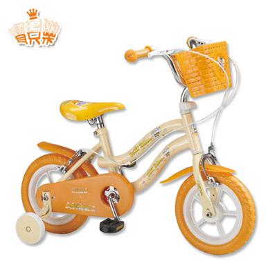 寶貝樂 12吋小河馬兒童腳踏自行車(黃)【QW1250Y】(BEQW1250Y)