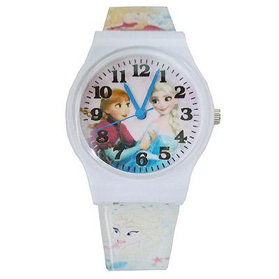 【單支免運出貨】FROZEN冰雪奇緣艾莎與安娜兒童錶卡通錶(白)