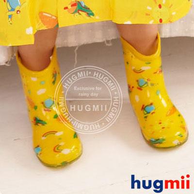 【Hugmii】滿圖造型兒童果凍雨鞋 飛機