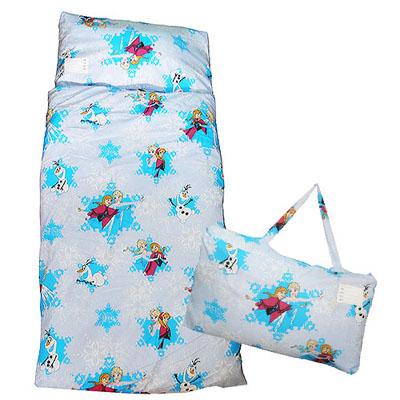 【卡通造型午安被】幼教兒童睡袋 舞動冰雪(粉藍)