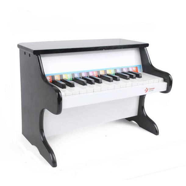 【下殺85折】classic world 德國經典木玩 客來喜 黑色木製鋼琴