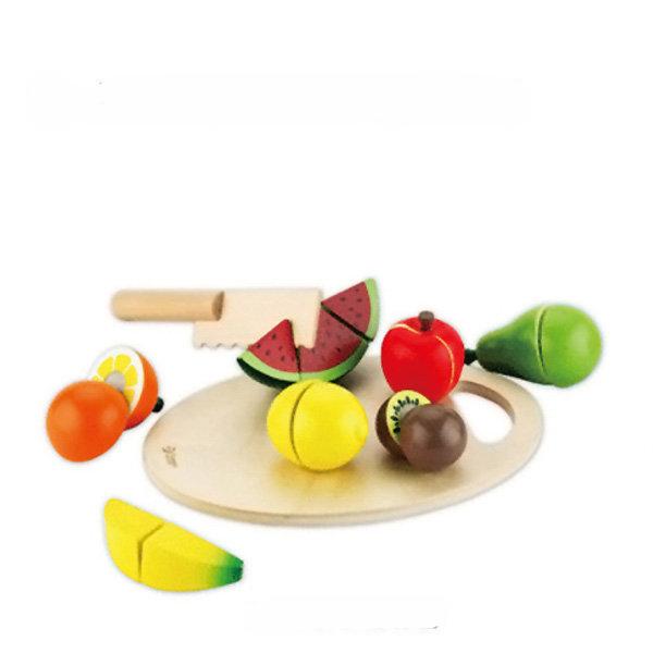 【下殺85折】Classic world 德國經典木玩 客來喜 水果切切樂 木製扮家家酒玩具