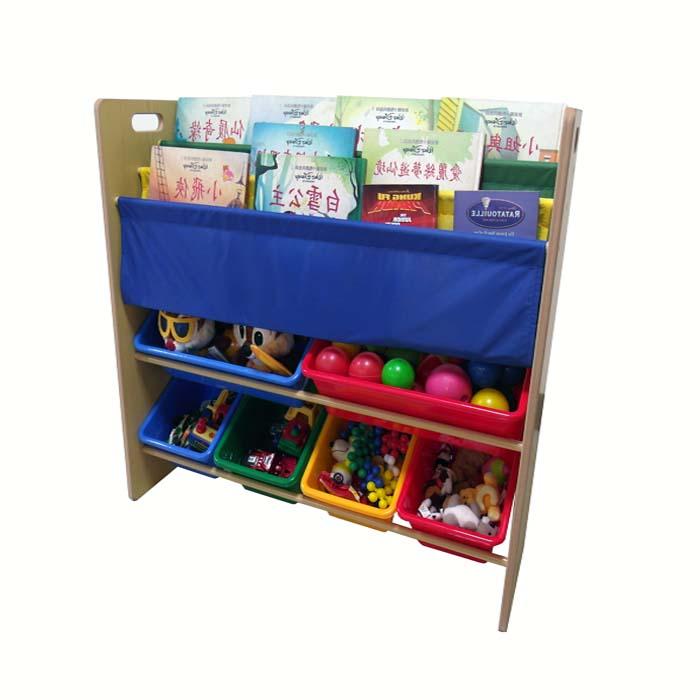 【開學用品促銷】DELSUN 兒童書報玩具收納架(5908H) 二合一 多功能 雜誌收納 木製收納架 DIY 台灣製造 安檢