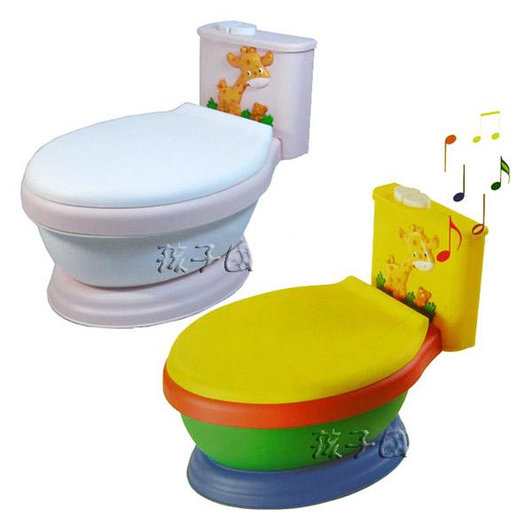 【孩子國】長頸鹿音樂馬桶~兒童學習便器 (3色可選)