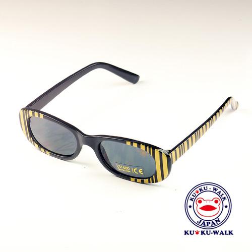 日本Ku Ku Walk兒童太陽眼鏡-豹紋款/金色