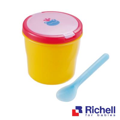 任選【Richell日本利其爾】可愛寶寶便當盒(附匙)