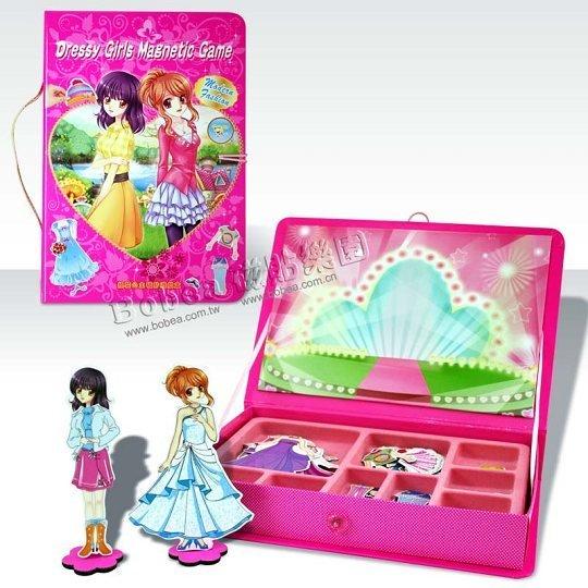 【孩子國】換裝公主磁貼遊戲手提盒(磁鐵書)
