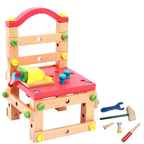 【3折限時特價】兒童節第二代兒童DIY實木積木椅