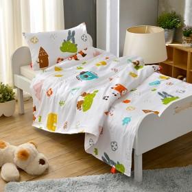 特賣《與花仔野餐去》兒童純棉防蹣抗菌兩用被枕頭二件組 3.5x4.5尺 (BFL18550CB)