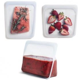 特賣組合/Stasher食品級白金矽膠密封食物袋(大長形+方形+站立式)
