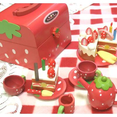 【TOP熱銷品】木製家家酒!木製草莓蛋糕家家酒點心組