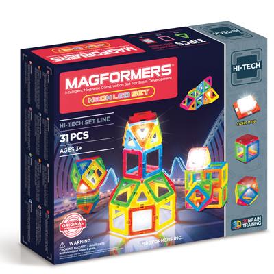 [2016新品上市]MAGFORMERS磁性建構片-螢光LED 31片裝
