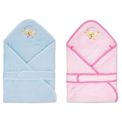 優生綿羊繡花包巾(藍)