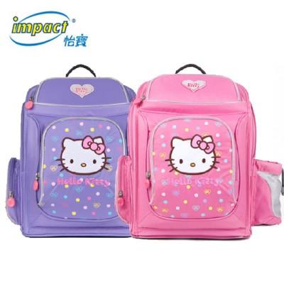 【怡寶IMPACT】HELLO KITTY-聯名款護脊書包-標準型 (粉紅、粉紫)