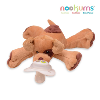 【特賣】【 Babytiger虎兒寶】 nookums 美國品牌 安撫奶嘴玩偶 - 帕皮狗