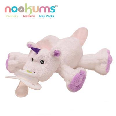 【特賣】【Babytiger虎兒寶】 nookums 美國品牌 安撫奶嘴玩偶 - 獨角獸