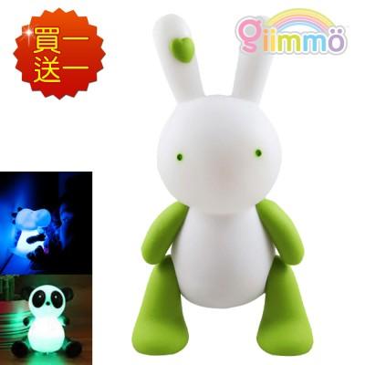【母親節優惠】【 Babytiger虎兒寶 】GIIMMO 魔幻燈彩安撫玩伴 - 兔子雷蒙LEMON(充電型)~買一送一