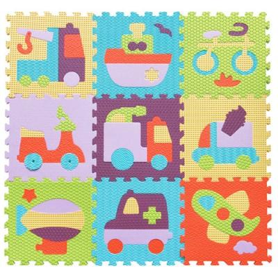 【入秋團圓購】BabyTiger虎兒寶-MIT 台灣製!頂級遊戲爬行地墊-魔術方塊系列地墊(歡樂交通)
