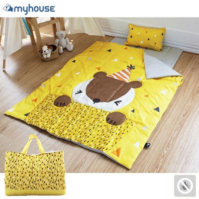 【初夏好康購物趣】myhouse 防?抗敏派對動物兒童睡袋 - 松鼠喬伊