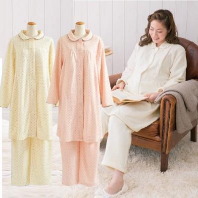 【特賣】日本西松屋 純棉長袖做月子服套裝 哺乳衣孕婦裝AA0012