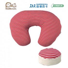 【暑假特惠】日本SANDEXICA新創授乳機能新式顆料子母哺乳枕 紅色條紋【FA0004】