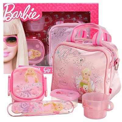 芭比Barbie 芭比餐具組禮盒(粉紅)(BLA342863)