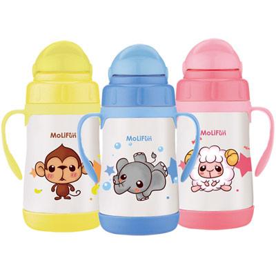 【特賣】MoliFun魔力坊 不鏽鋼真空兒童吸管杯/學習杯260ml(MJ0529)