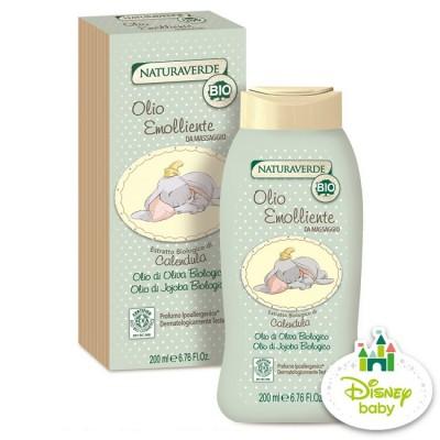 【迪士尼授權 自然之綠】小飛象金盞花舒緩嬰兒油(200ml)