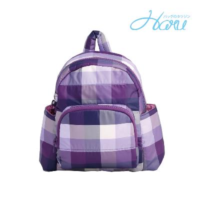 小晴天本舖HARU 日本布料 小童背包【糖果紫】