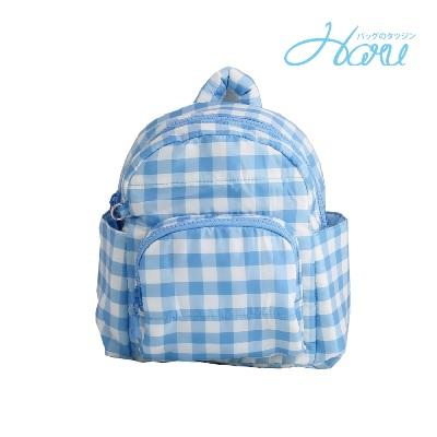 小晴天本舖HARU 日本布料 小童背包【方糖藍】
