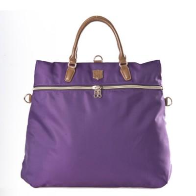 【暢銷特賣】DF Queenin日韓 - 日本熱銷款百搭大空間3用式後背包-紫色