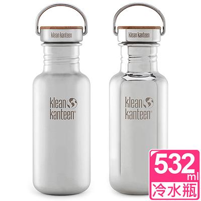 美國Klean Kanteen 竹片蓋不鏽鋼冷水瓶532ml 任選單支