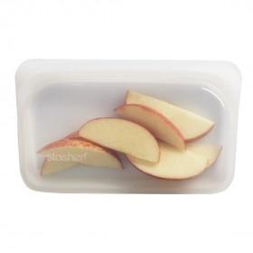 特賣/Stasher 長形(雲霧白)食品級白金矽膠密封食物袋293ml - STMK00(加贈橘寶30ml一瓶)