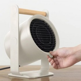 特賣【日本 BRUNO】天然木手持PTC陶瓷電暖器 白色 BOE036