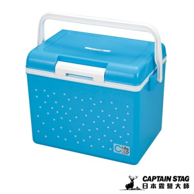 【日本鹿牌】CoCoLife保冷冰箱14L-圓點藍#HEUE-62