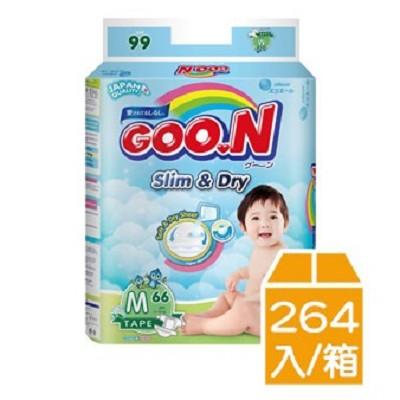 【 GOO.N 】日本大王 紙尿褲-國際版大包裝M(66片X4包/箱)