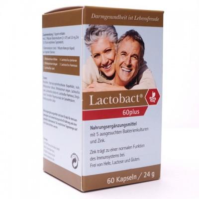 【Lactobact 60Plus】萊德寶銀髮族配方膠囊益生菌:60歲以上成人專用