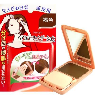【日本柳屋】雅娜蒂 白髮遮瑕粉餅-黑褐色13g