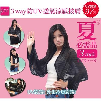 【歡慶雙+1】日本COGIT 3Way防UV透氣涼感披肩-買一送一