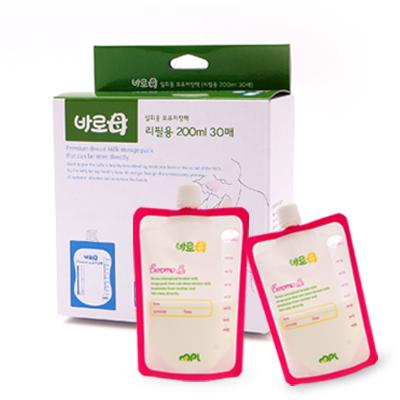 韓國BAROMO寶食樂母乳餵奶神器組 - 母乳袋補充包(200ml X 30入)