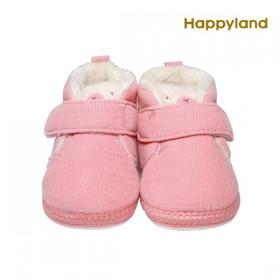 特賣【韓國 HAPPYLAND】(粉色125) 2019FW童鞋 小貓絨毛學步鞋/刷毛童鞋
