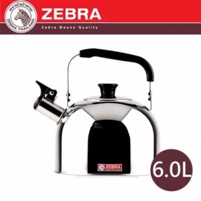 【斑馬ZEBRA】#304不鏽鋼笛音壺 B 6.0L 113525