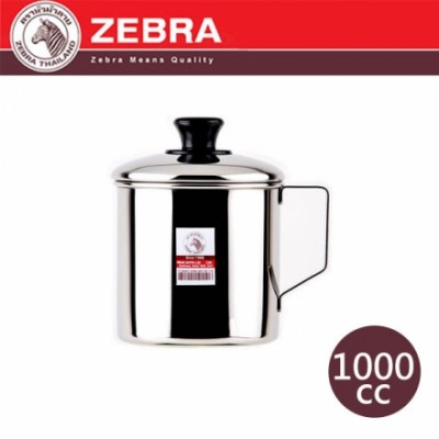【斑馬ZEBRA】#304不鏽鋼口杯附蓋 2A11L /1000cc 110111