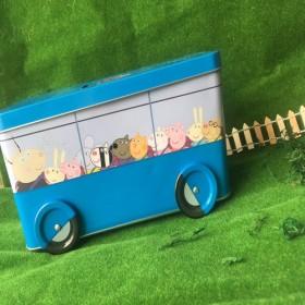 【驚喜優惠價】英國佩佩豬Peppa Pig 校車存錢筒餅乾