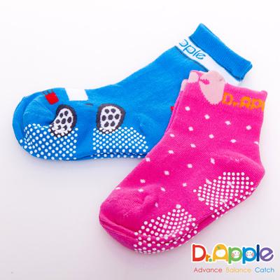 【特賣】Dr. Apple 可愛造型圓點止滑兒童襪3入組