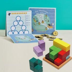 特賣【學齡國際】挑戰益智組-數字探險+大塊積木